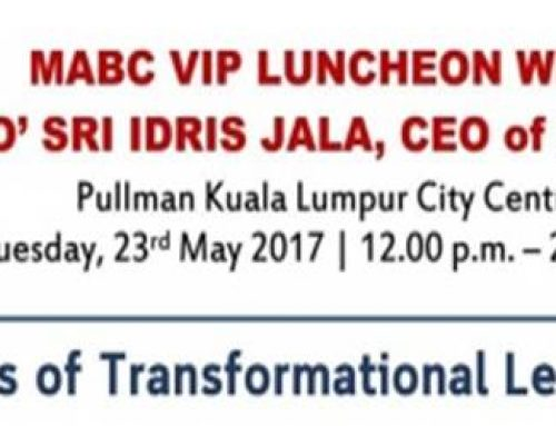 MABC VIP Luncheon with Dato' Sri Idris Jala, CEO of PEMANDU