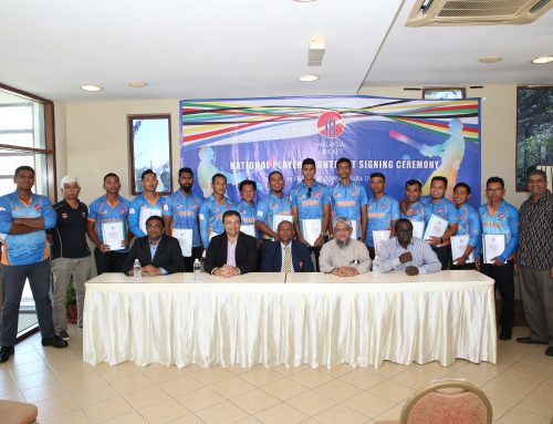 CRICKET MALAYSIA SIGN UP SENIOR MEN'S NATIONAL PLAYERS TO NATIONAL CONTRACTS